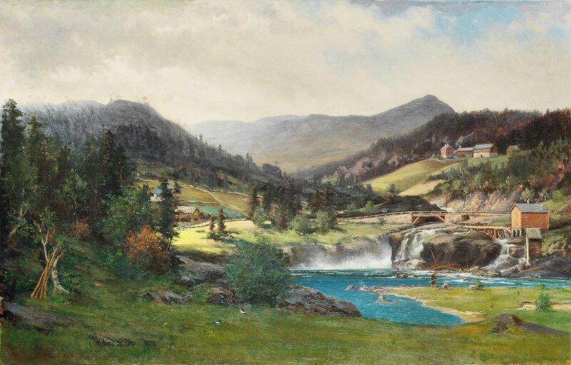 Storbrofossen i Søndre Aurdal i Valdres 1877