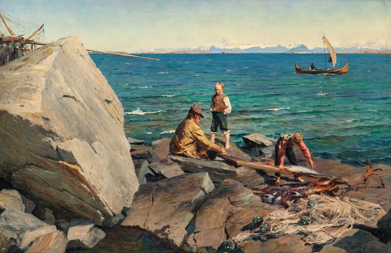 Cleaning fish, Nordland