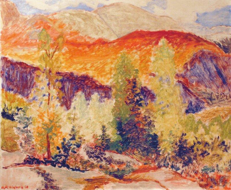 Fjell i høstfarger 1935