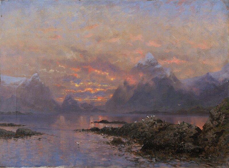 Nordnorsk landskap med sjøfugl