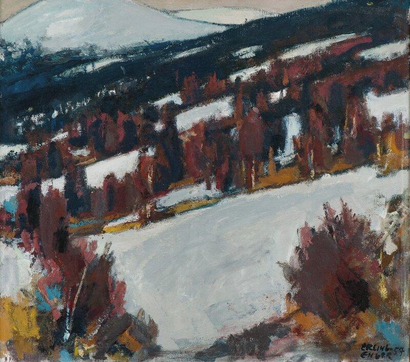 Vinterlandskap 1957