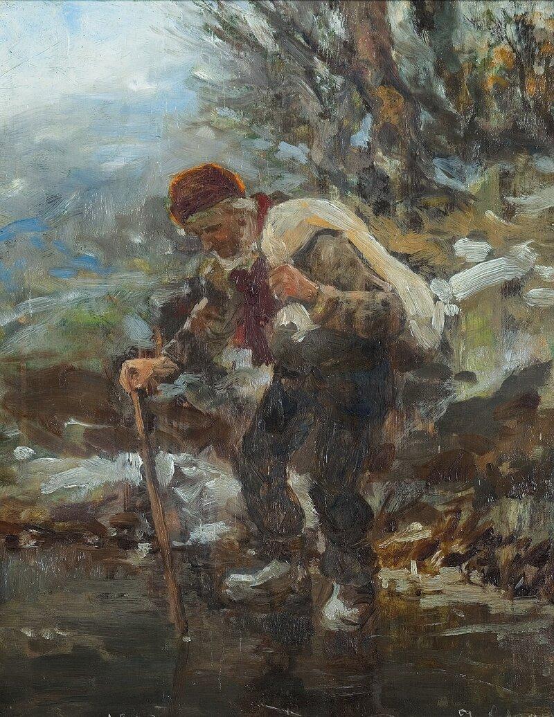 Han Torstein på isen 1903