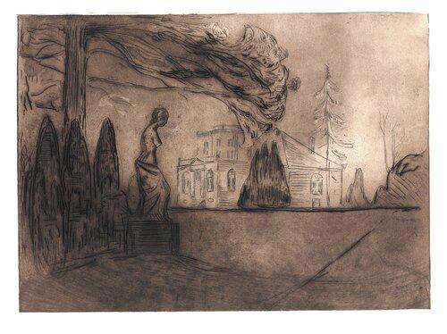 Fra Max Lindes hus 1902