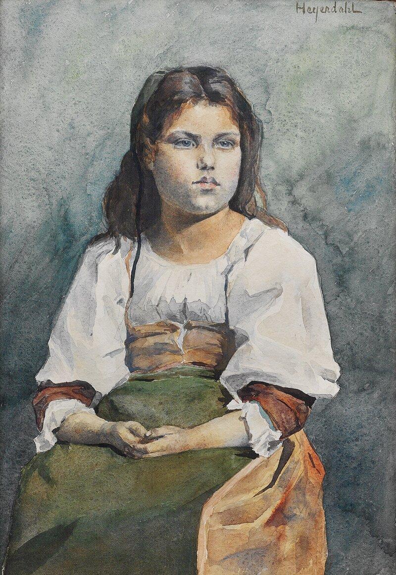 Portrett av ung pike
