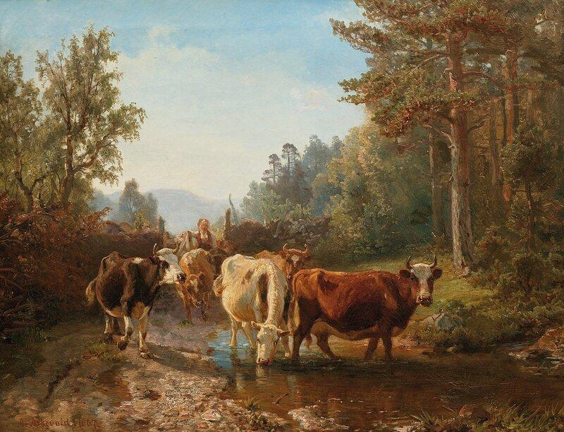 Budeie med kyr 1867