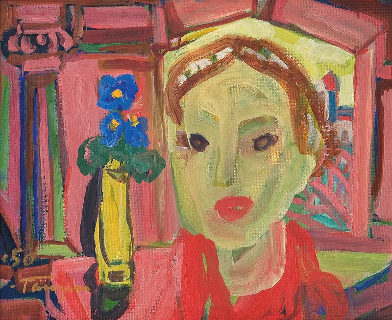 Kvinne i interiør 1950