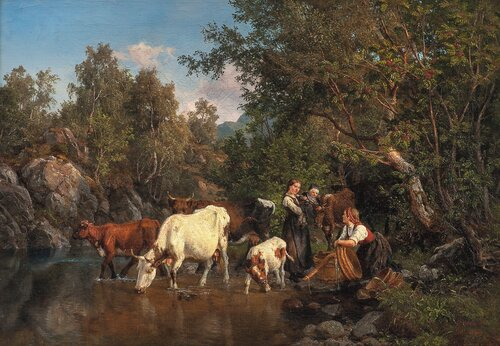 Ved vanningsstedet 1858
