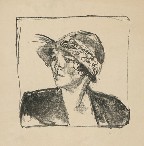Young Woman with Hat