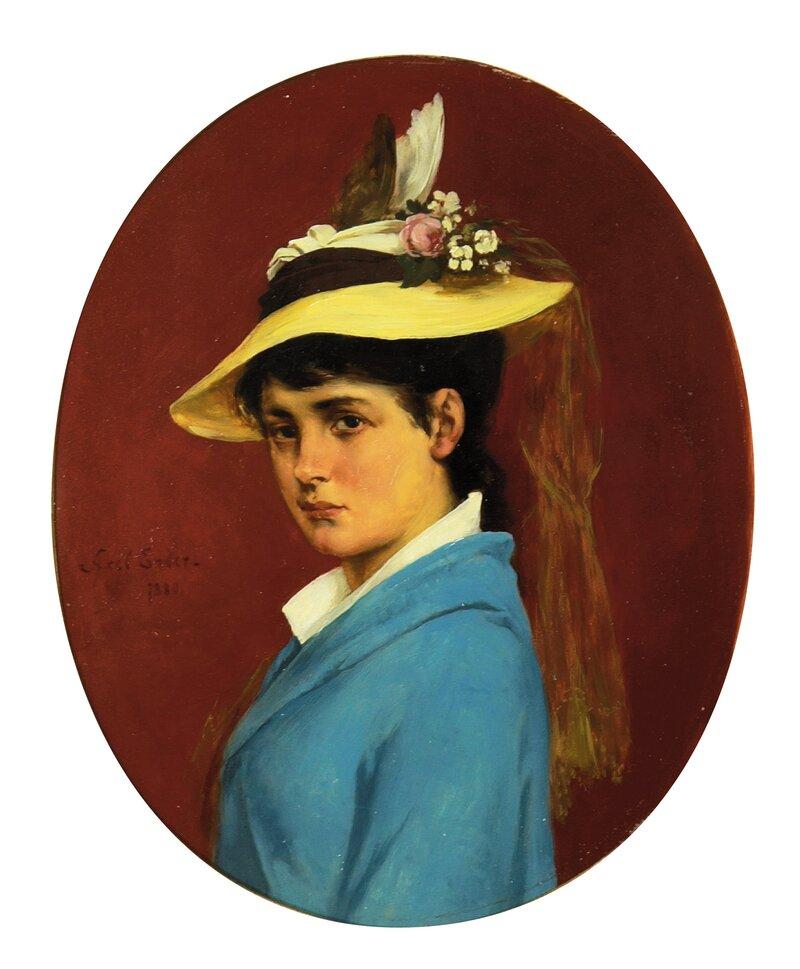 Portrett av en ung dame 1880