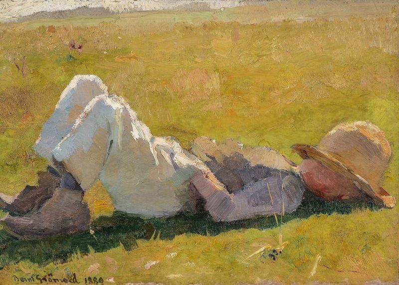 En hvil i gresset 1889