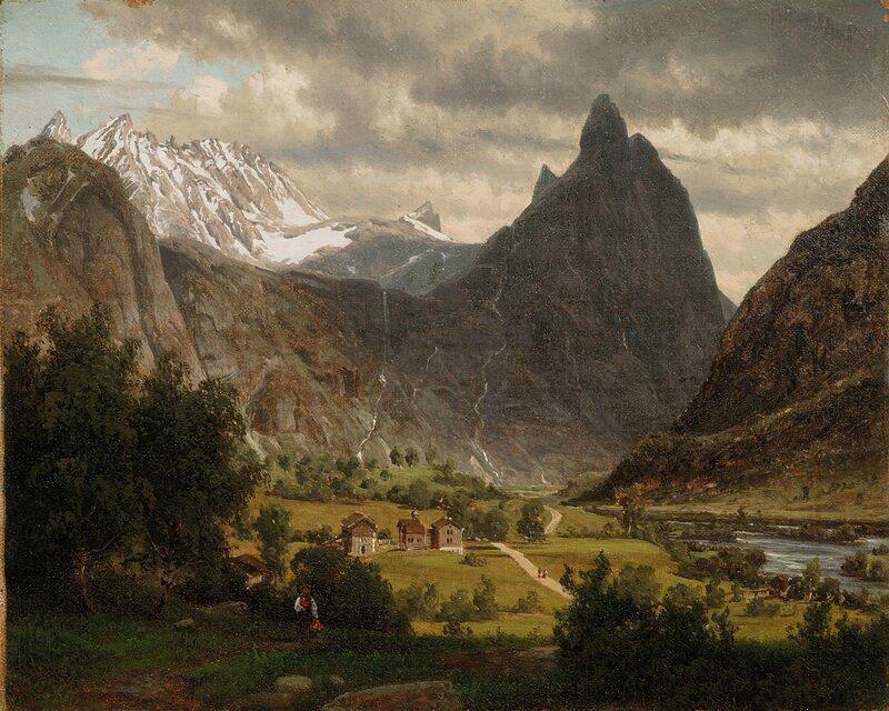 Folkeliv under Romsdalshorn 1860