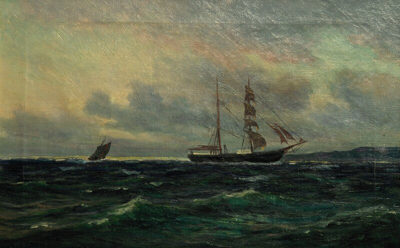 Seilskute og losbåt