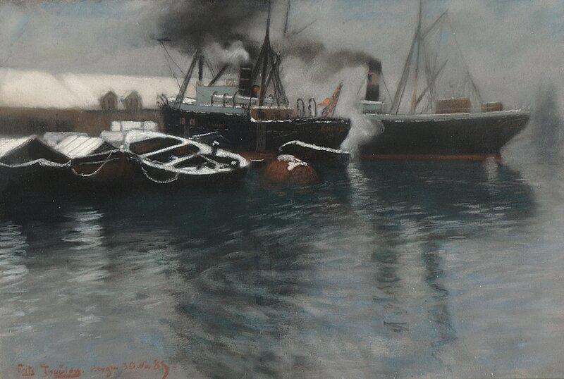 Fra Bergen havn 1885