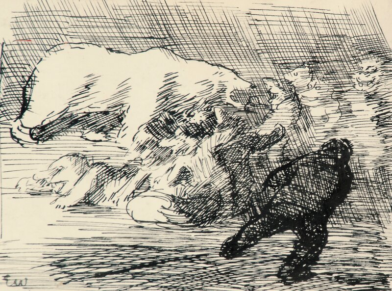 White Bear and Troll Sketch for Per Gynt