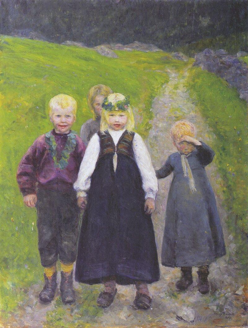 Småbarns brudeferd 1893