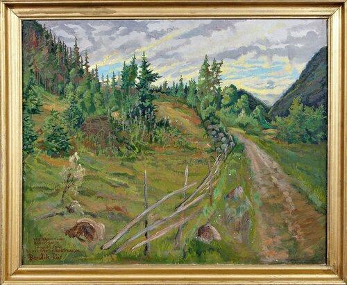 Ved Bakken gård, Bandakdalen 1942