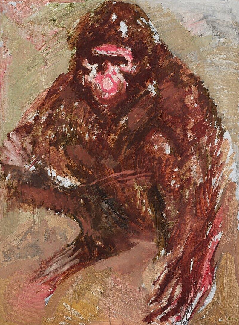 Sittende ape