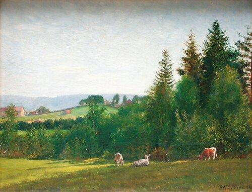Gressende kyr 1888