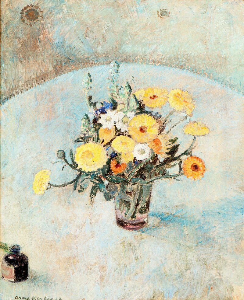 Oppstilling med blomster 1912