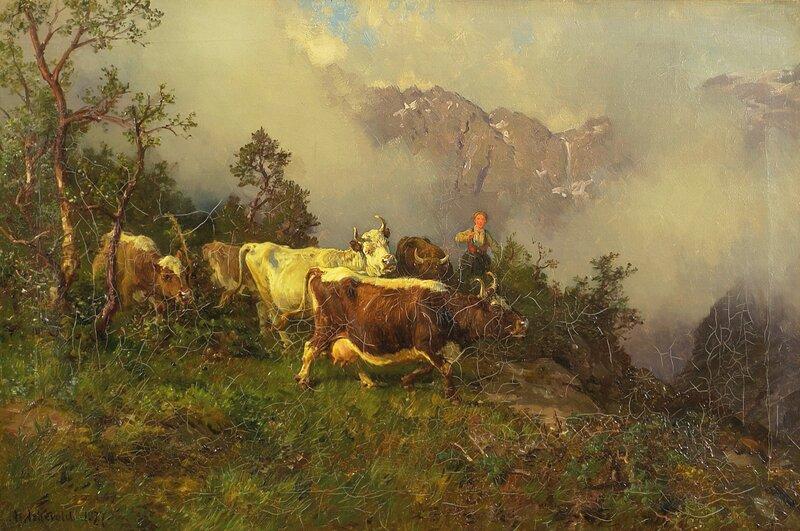 Hjem fra fjeldet 1877