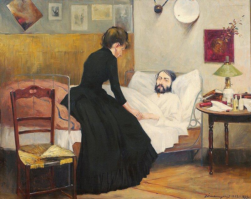Henrik Wergeland på dødsleiet 1888-1893