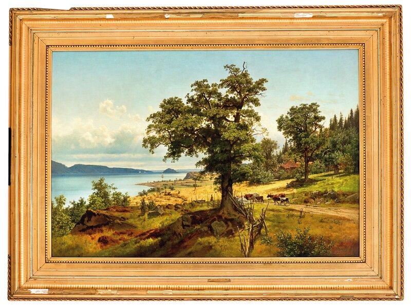 Landskap fra Christianiafjorden 1856