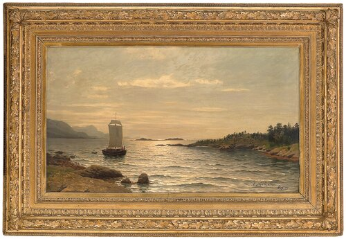 Seilskute i kystlandskap 1877