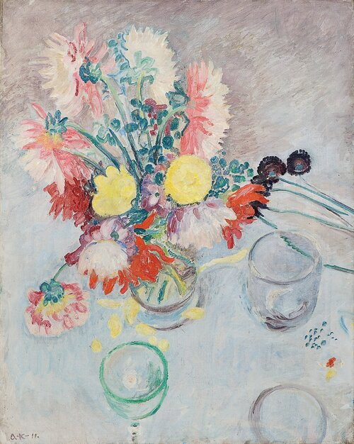 Oppstilling med blomster 1911