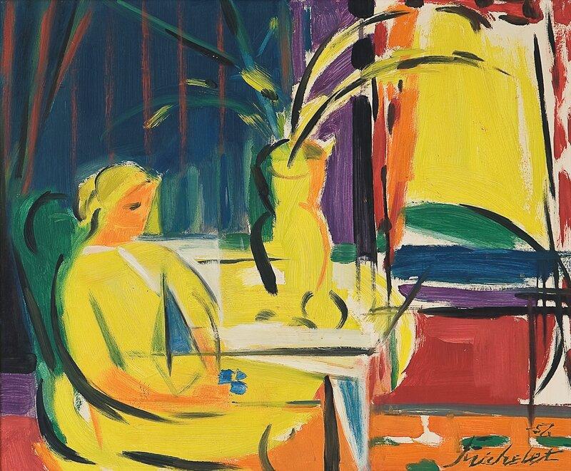 Vårtema i gult 1956
