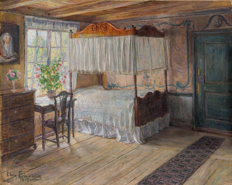 Prinsekammeret på Narvestad Gård 1917
