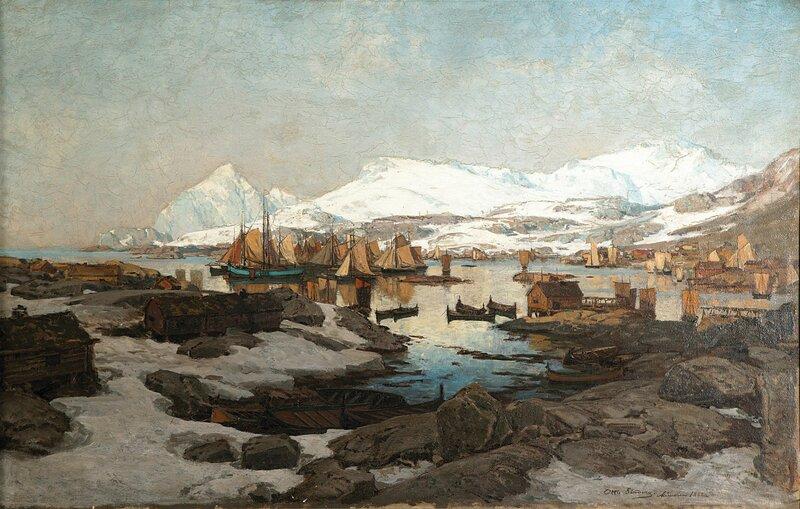 Vårdag i Svolvær 1882