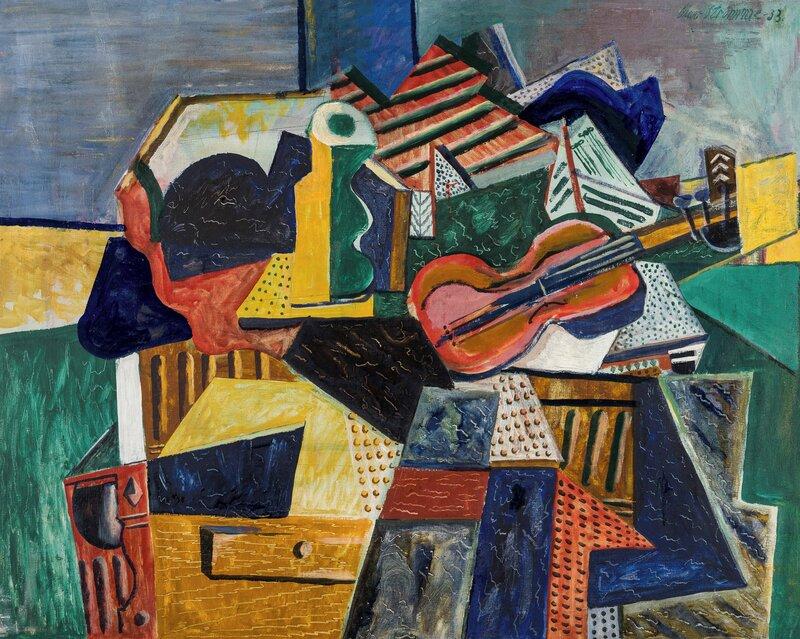 Oppstilling med fiolin 1933
