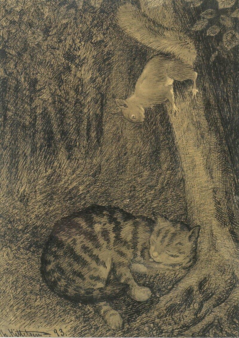 Katt og ekorn 1893