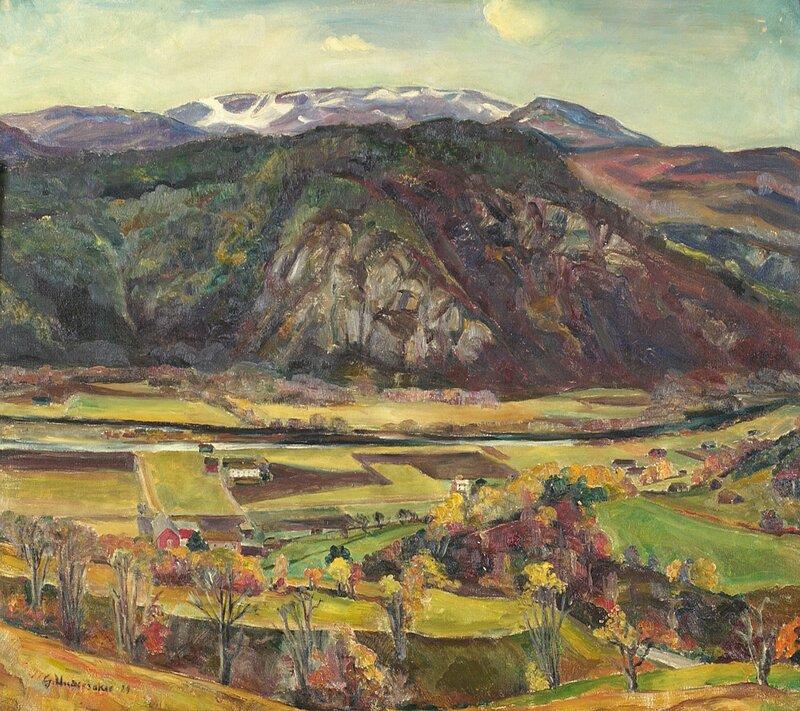 Gårdsbruk i fjelldal 1929
