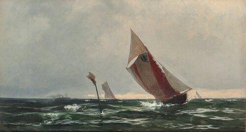 Losbåt, slørende 1874