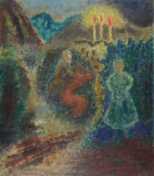 Mennesker og tre fakler 1932