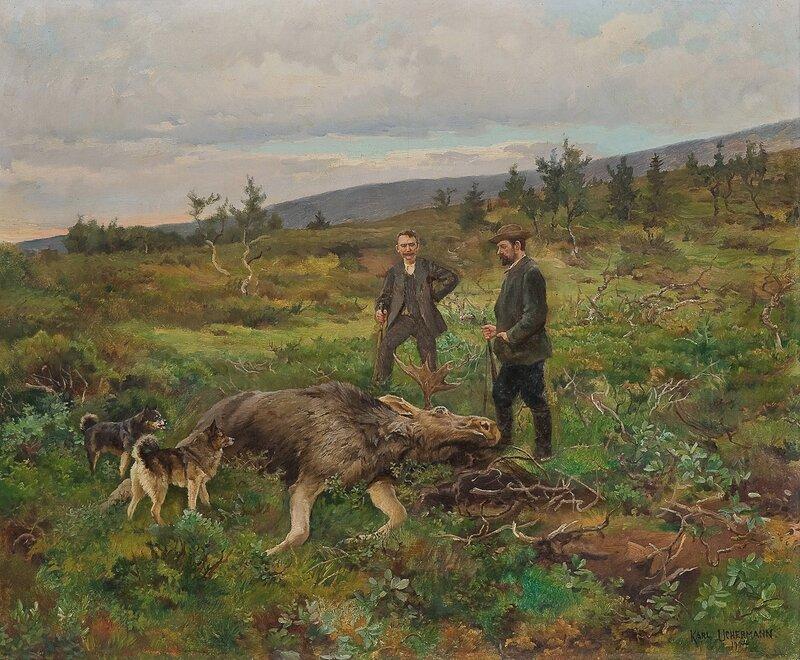 Elgjakt 1904