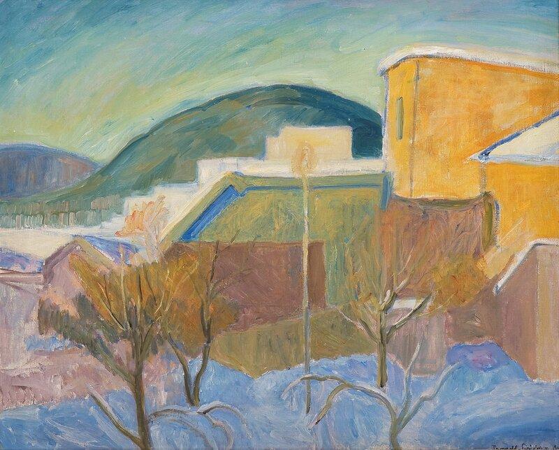Utsikt mot Balbergkampen, vinter 1918