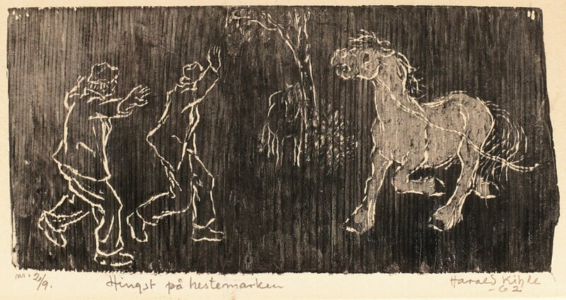 Hingst på hestemarken 1962