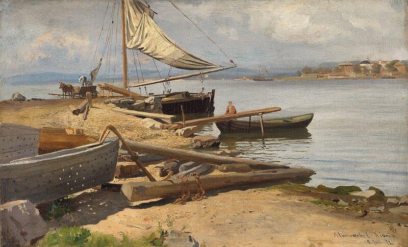 Fra Kristianiafjorden 1872