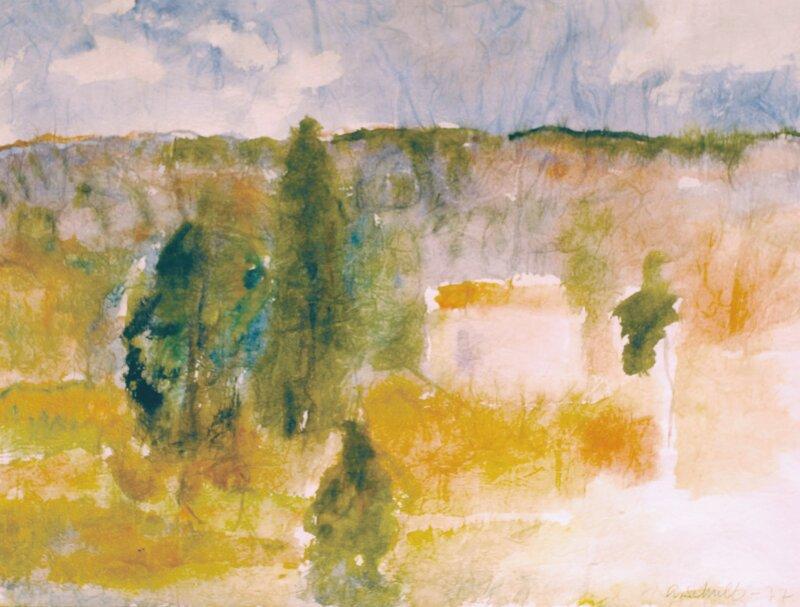 Landskap med hus 1977