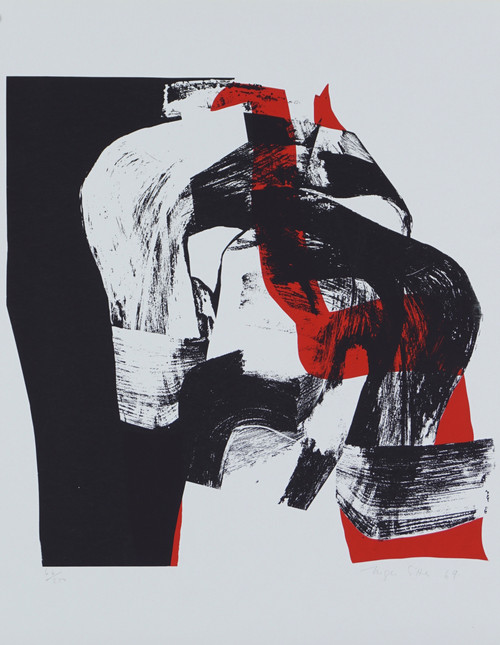 Sort og rød komposisjon 1969