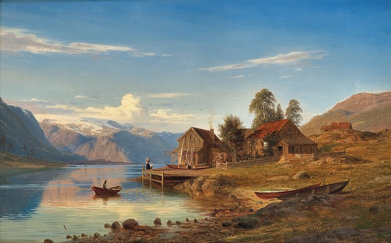 Fra Rognaldsvåg i Kinn 1867