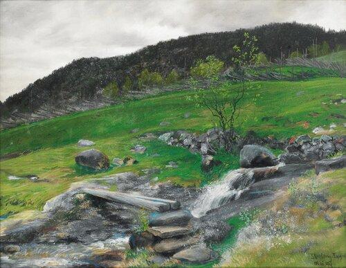 Landskap Eggedal 1894