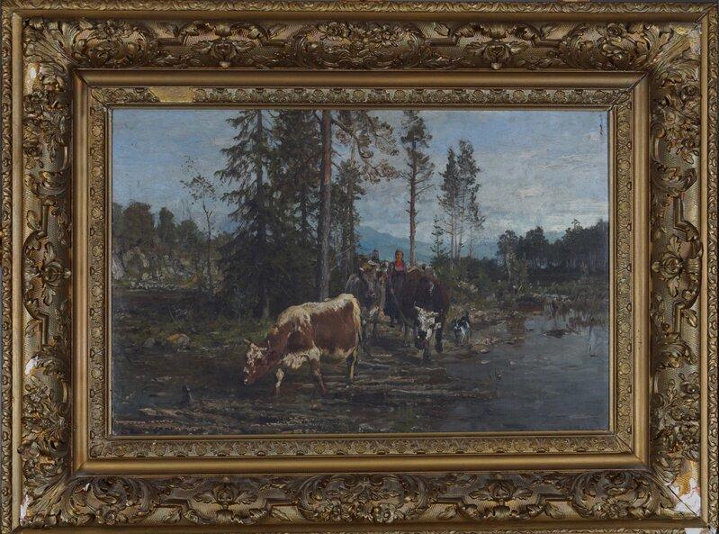 Kyr ved vanningssted 1899