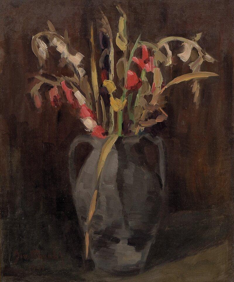 Gladiolus i krukke 1941