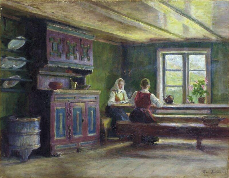 Interiør fra Våge 1903
