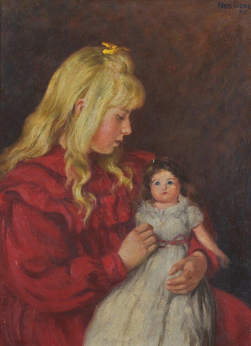 Pike med dukke 1900