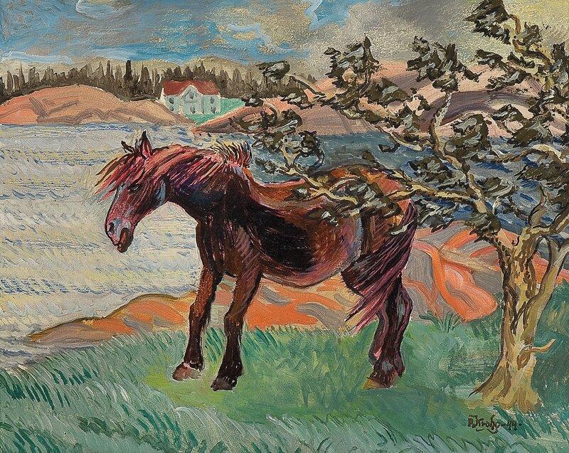 Hest i kuling 1944
