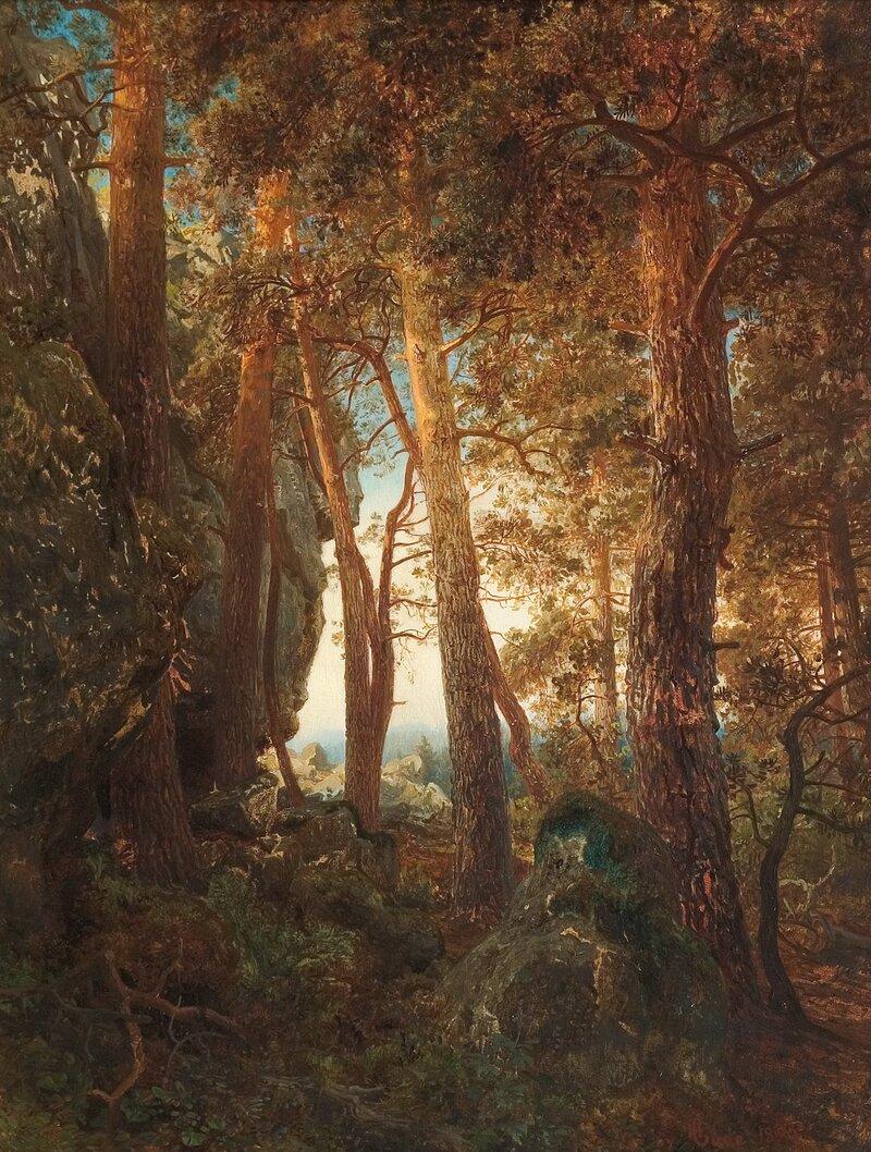 Skogsinteriør 1850